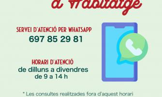 Servei de whatsapp Habitatge