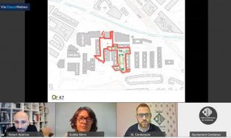 Captura de pantalla de la sessió informativa sobre la II fase de l'avantprojecte de reurbanització de Fontetes