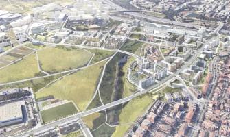 Simulació de l'urbanització del Centre Direccional