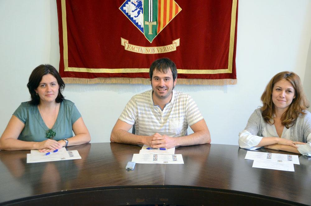 L'alcalde Carles Escolà i les tinentes d'alcalde Elvi Vila i Helena Solà