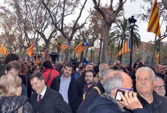 Carles Escolà i Daniel Mallen han estat presents fent costat a Carme Forcadell