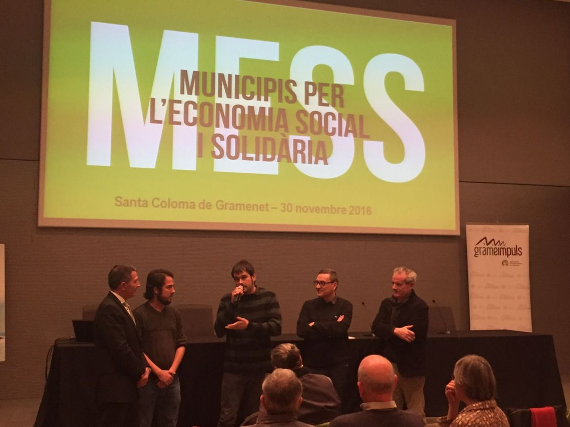 Intervenció de Carles Escolà. Foto Ajuntament de Santa Coloma de Gramenet