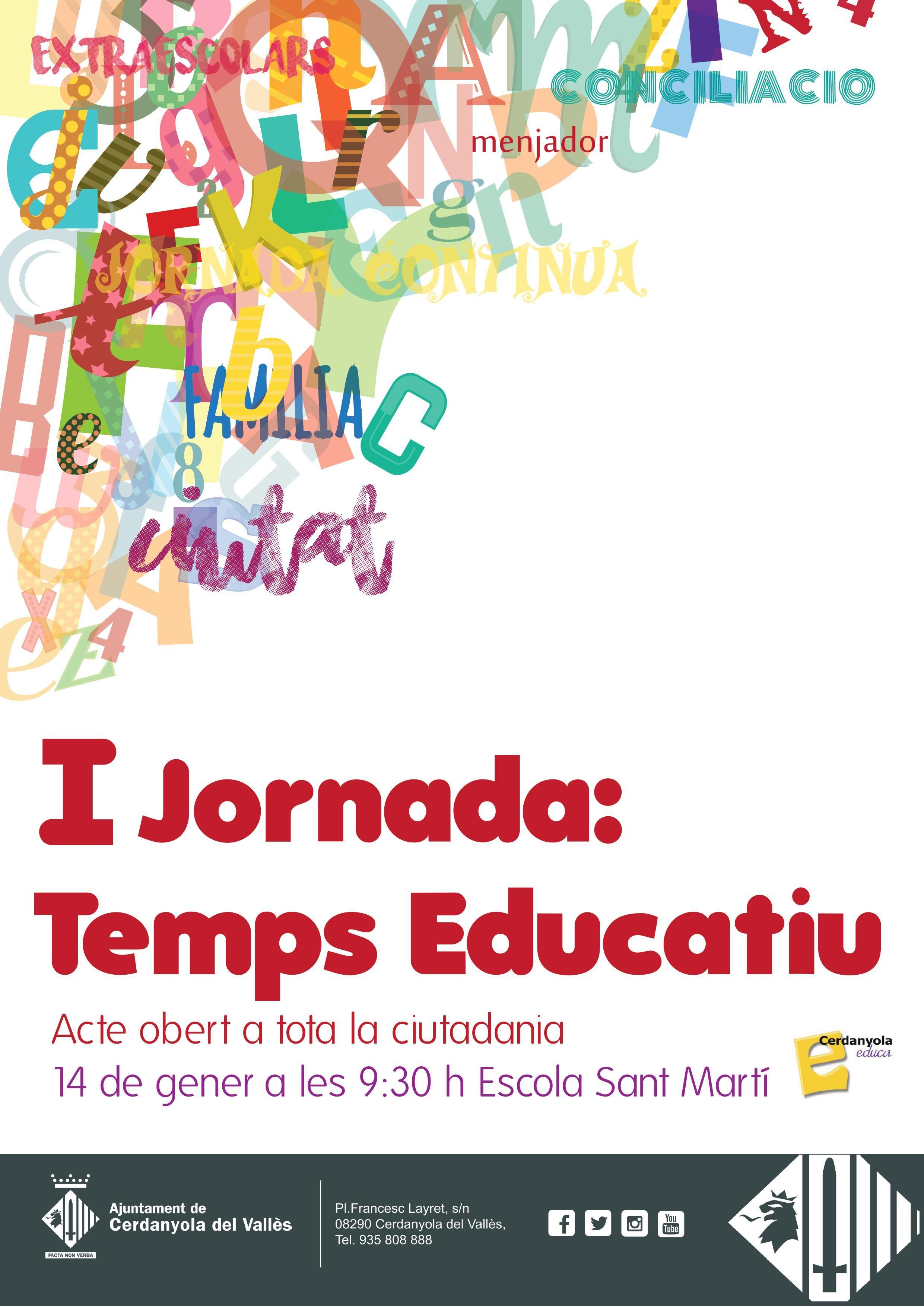Cartell de la I jornada Temps educatiu