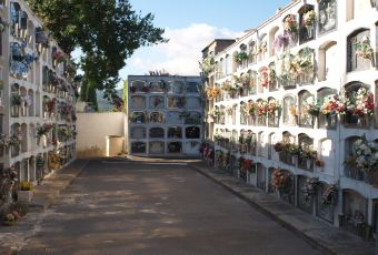 Vista del cementiri municipal.