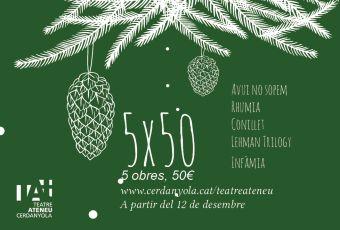 El Pack Teatra't inclou 5 obres de teatre per 50 euros