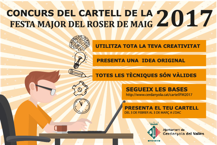 Concurs Cartell Festa Major Roser de Maig 2017