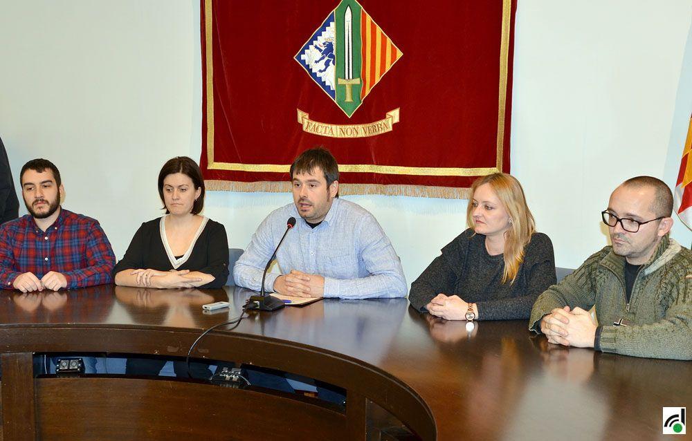 Roda de premsa del grup municipal de Compromís per Cerdanyola