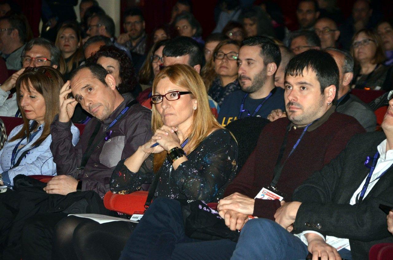 L'alcalde, Carles Escolà, present a la inauguració del 2n Congrés de CCOO Vallès Occidental-Catalunya Central