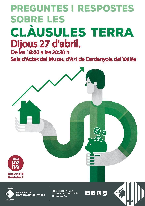Cartell xerrada informativa sobre les clàusules terra de les hipoteques