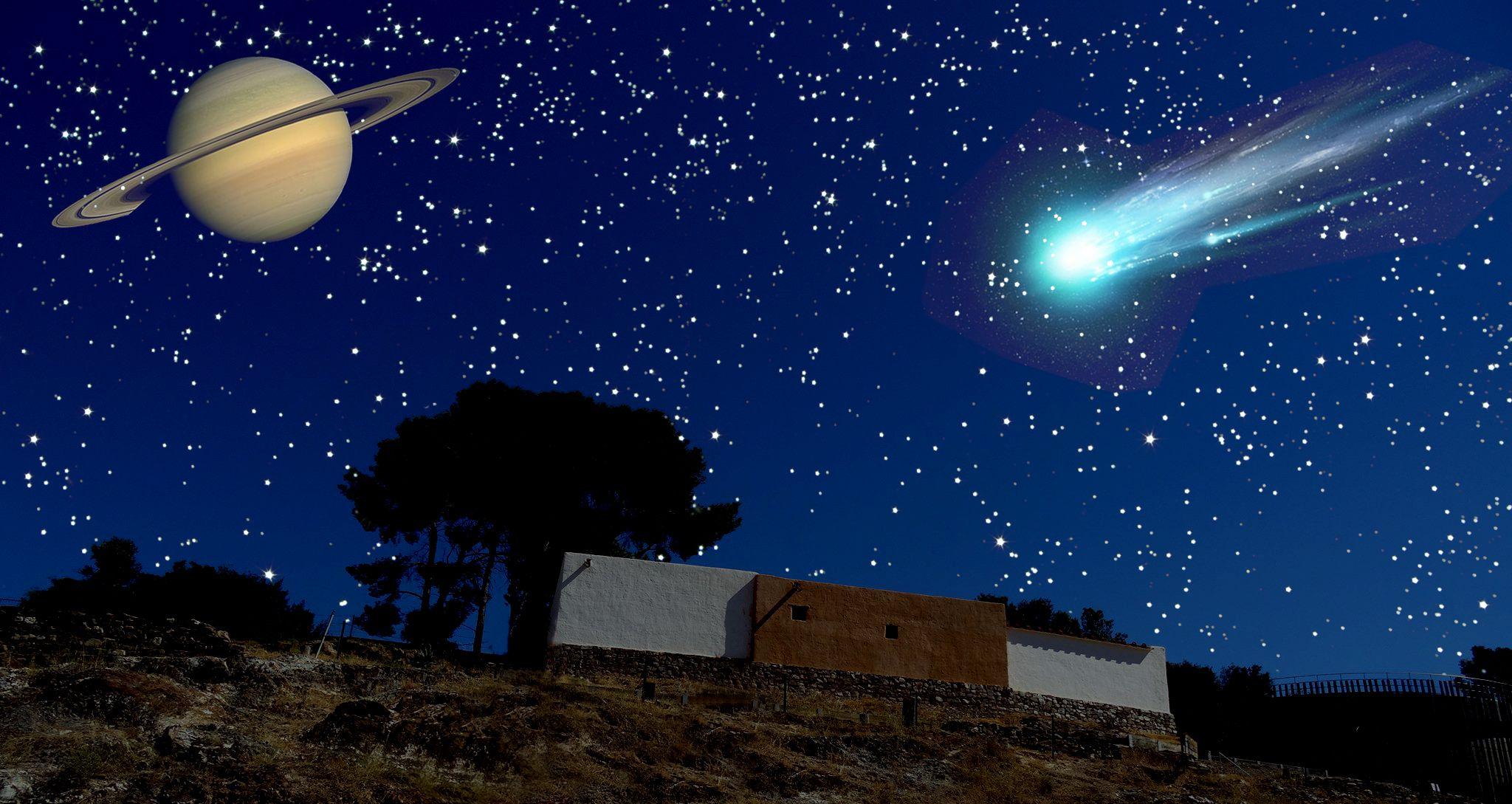 Recreació d'un cel espectacular a ca n'Oliver