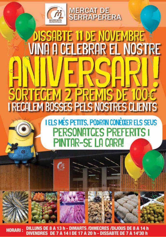 Cartell publicitant els actes 43è aniversari MM Serraperera
