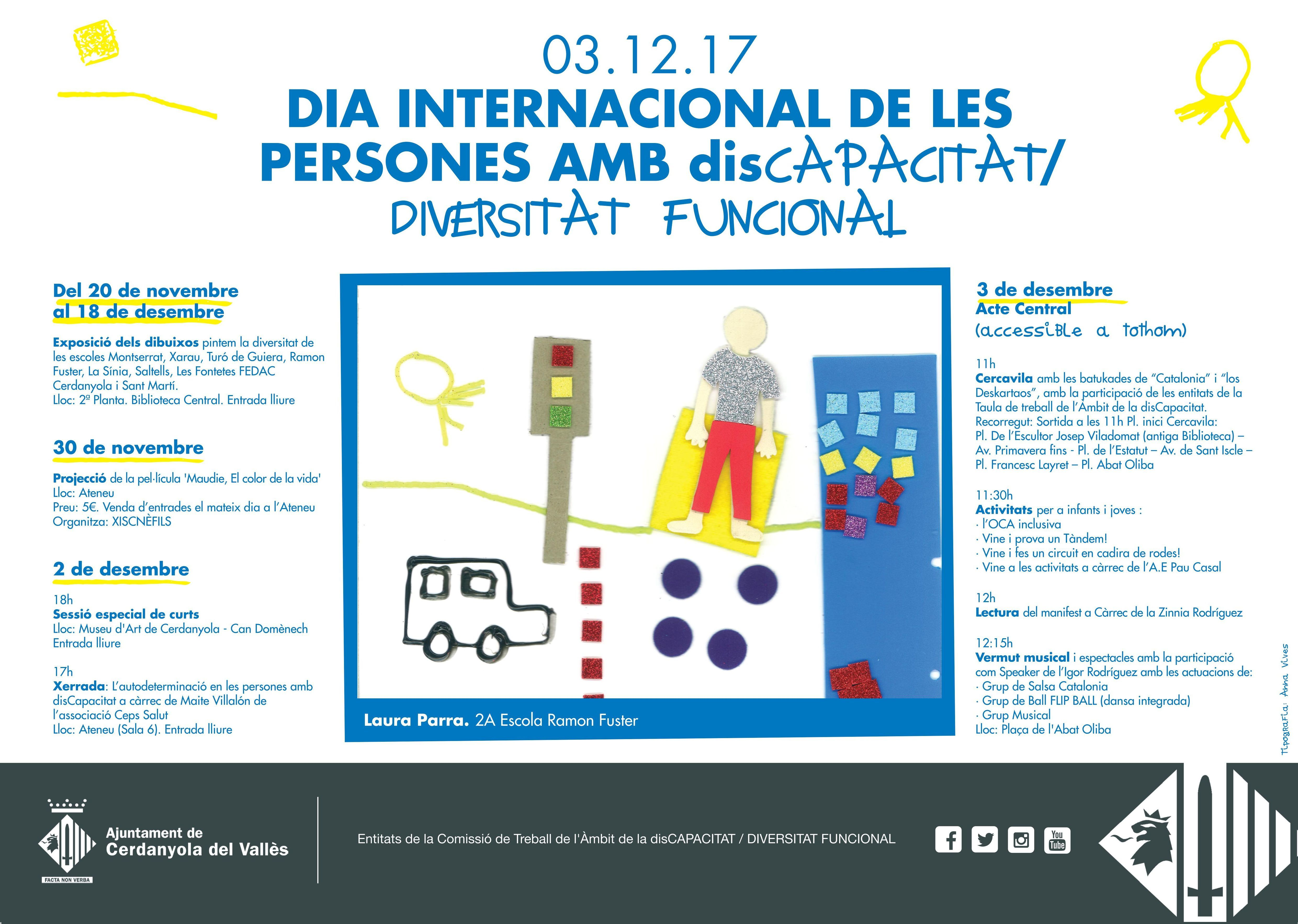 Cartell del Dia Internacional de la Discapacitat 2017