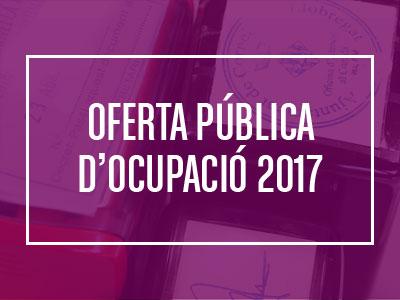Oferta Pública d'Ocupació 2017