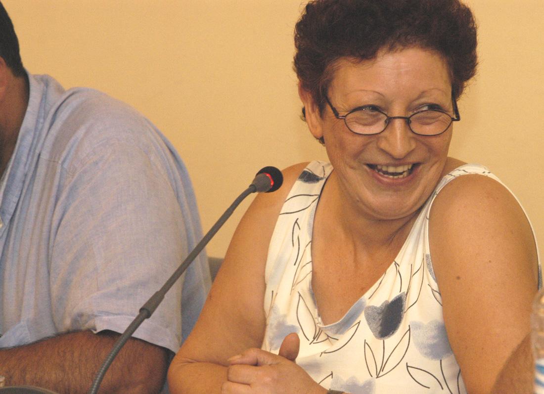Dolors Toló el dia del seu comiat com a regidora de l'Ajuntament de Cerdanyola