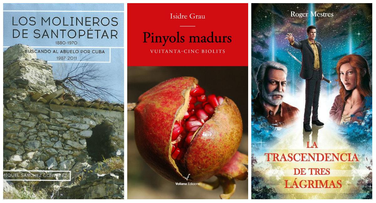 Portada dels llibres d'autors locals que es presentaran al febrer