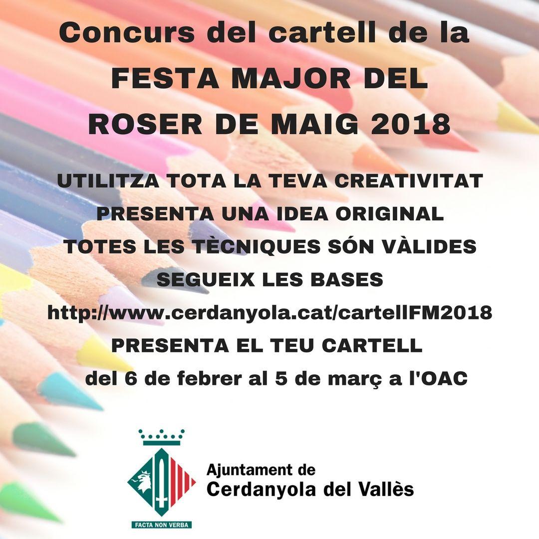 Imatge concurs cartell Roser 2018
