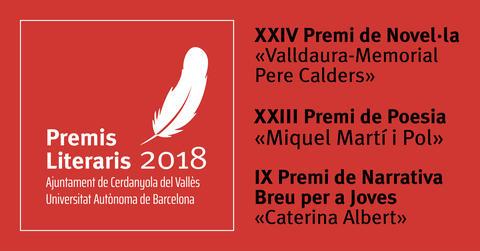 Cartell Premi Literaris 2018
