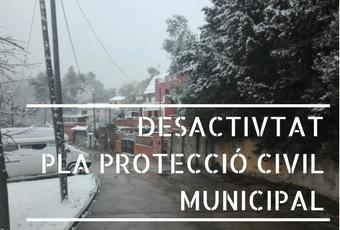 Desactivat el Pla de Protecció Civil Municipal