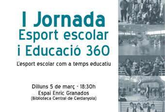 Detall del cartell de la I Jornada Esport escolar i Educació 360