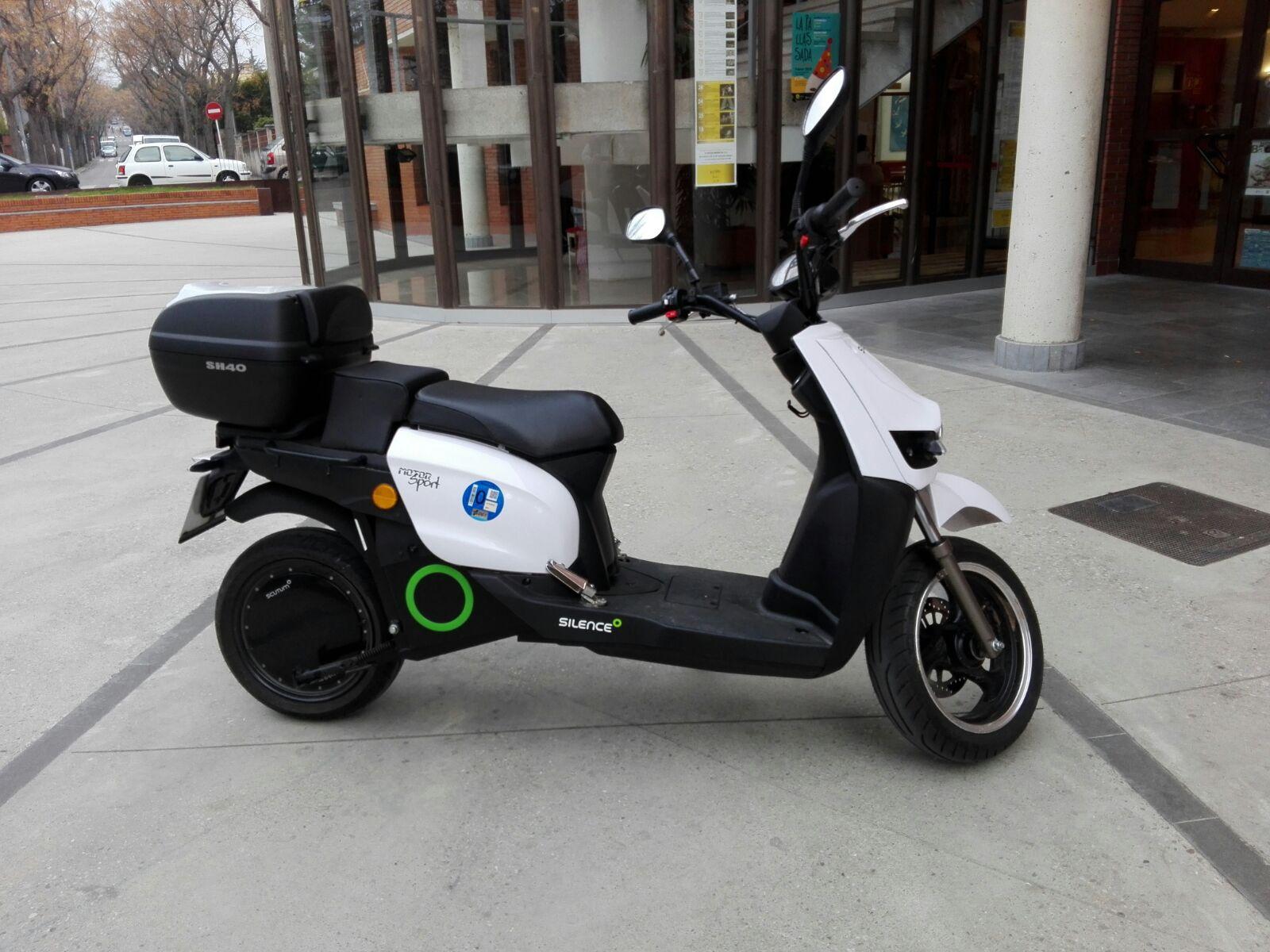 La moto elèctrica comprada per l'Ajuntament
