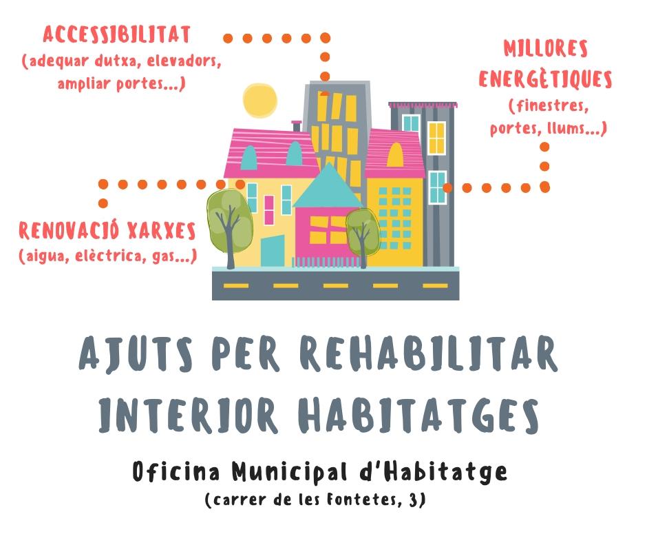 Cartell Ajuts Habitabilitat habitatges individuals i unifamiliars