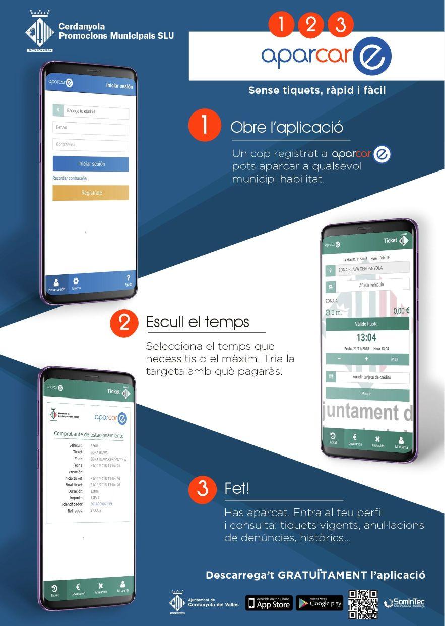 Imatge informativa del procediment per pagar amb l'app