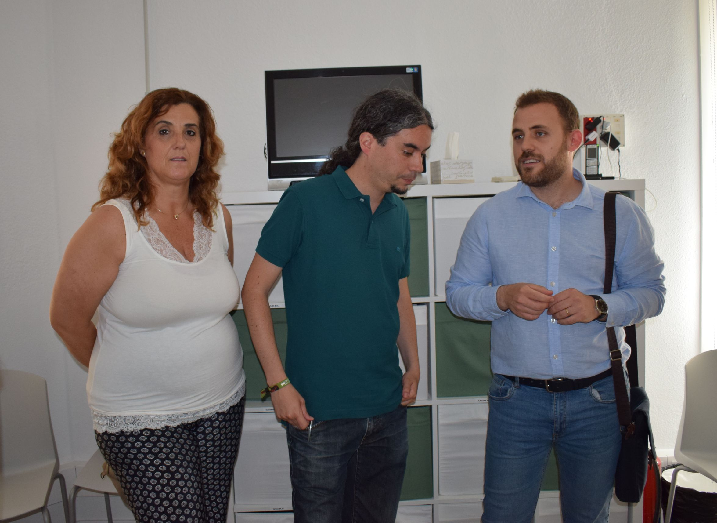 La regidora Pepi Rivera i els alcaldes J.M. Osuna i Carlos Cordón