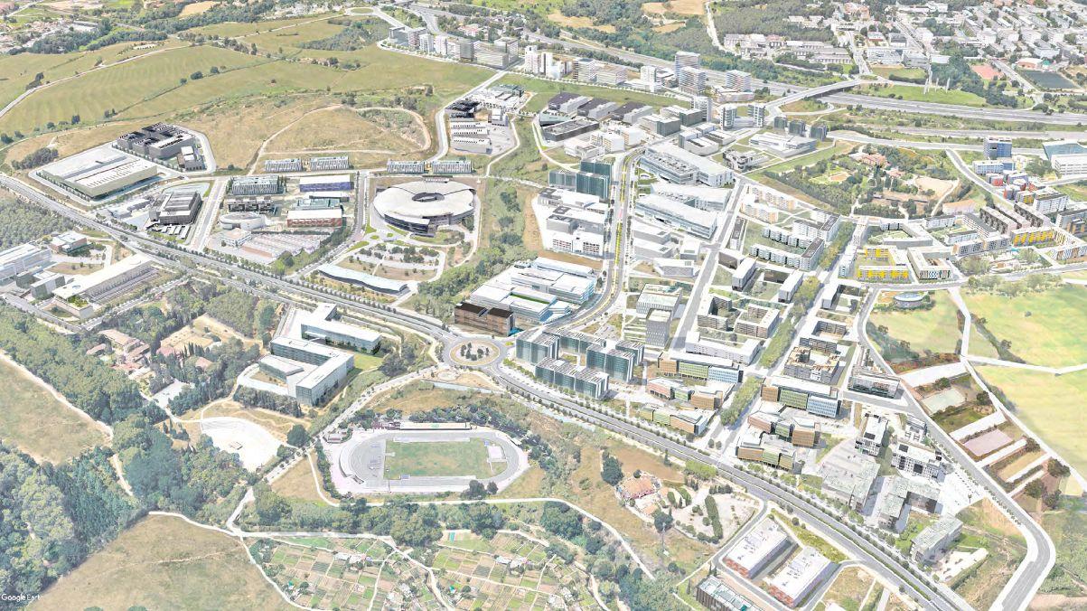 Dibuix del Pla Director Urbanístic del Centre Direccional