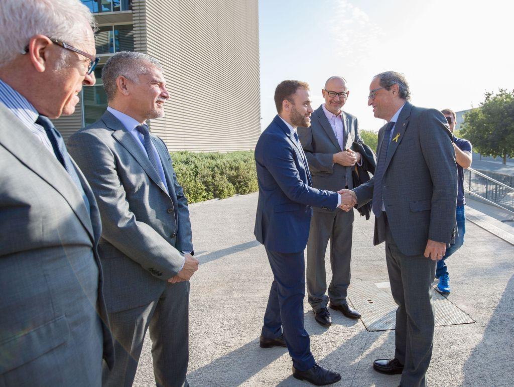L'alcalde Carlos Cordón rep al President de la Generalitat Quim Torra