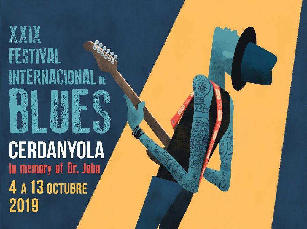 Part del cartell del Festival de Blues 2019