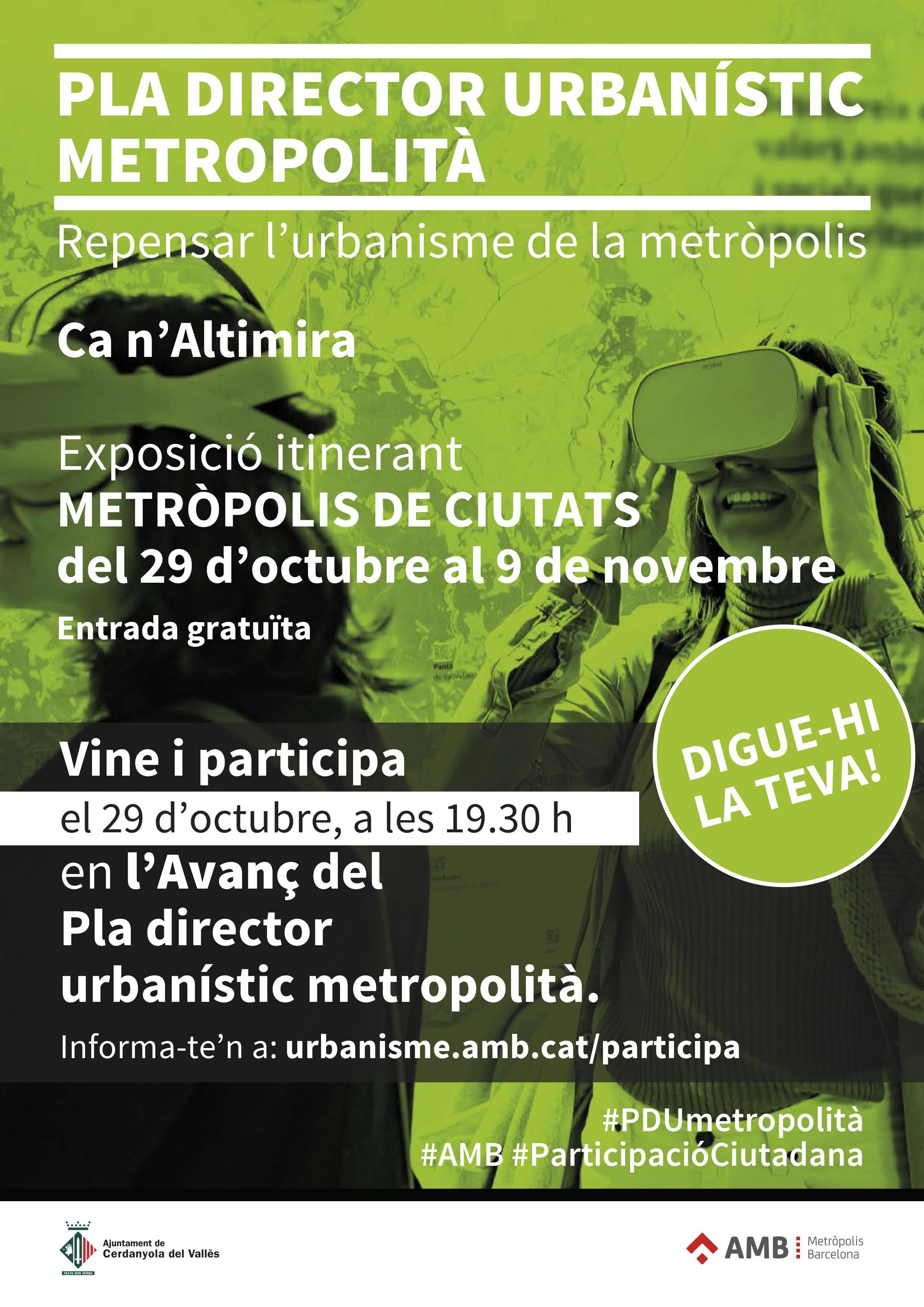 Cartell del procés de participació ciutadana - PDU AMB