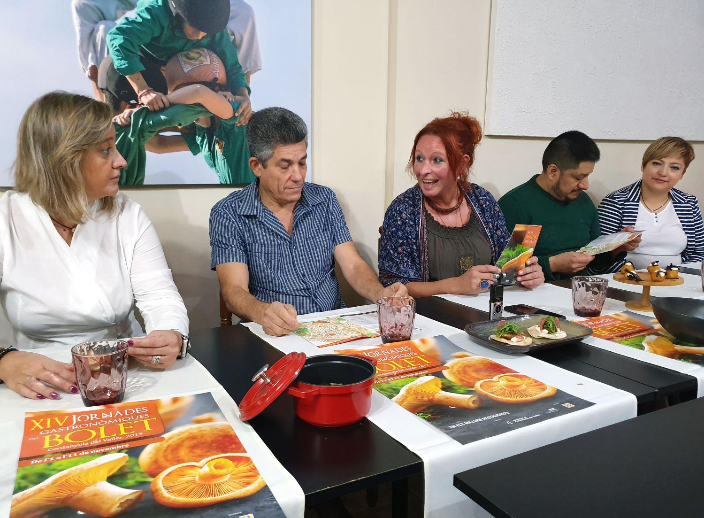 Moment de la presentació que es va fer al restaurant Papitu