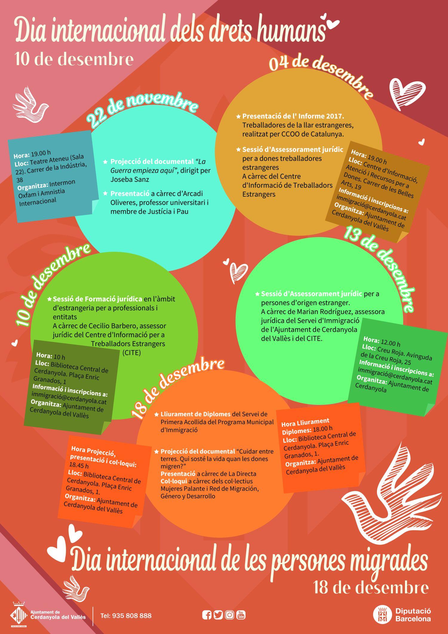 Cartell Dies Internacionals Drets Humans i Persones Migrades