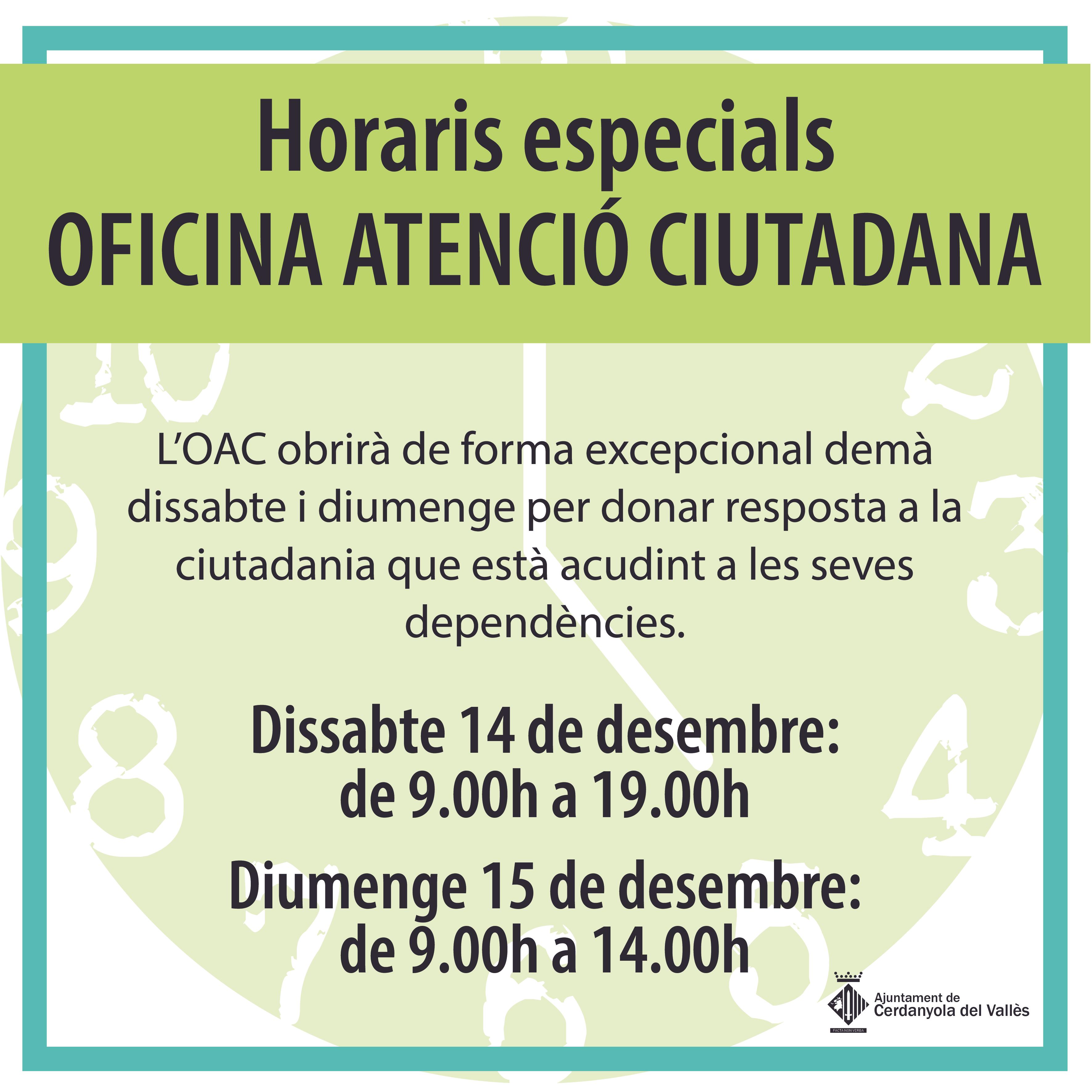 Imatge horaris OAC