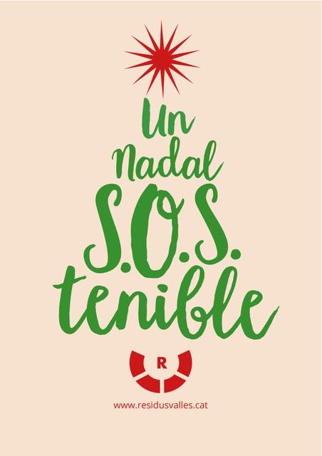 Imatge de la campanya Per un Nadal més SOStenible