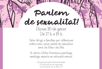 Part del cartell de l'activitat 'Parle de sexualitat'