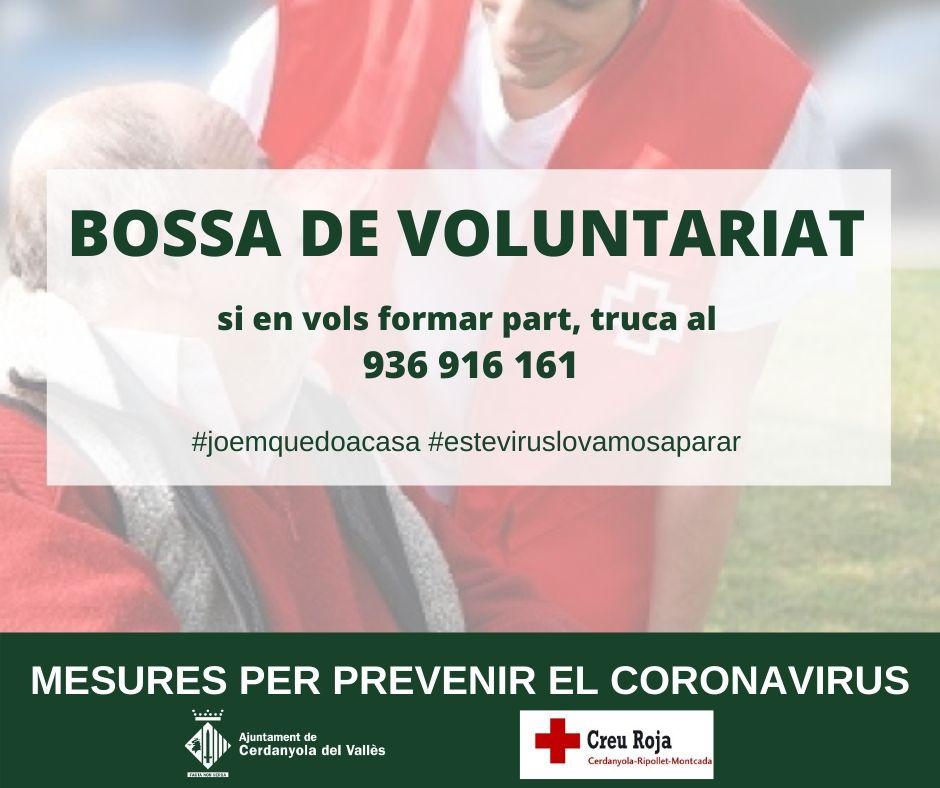 Cartell informatiu de la bossa de voluntariat