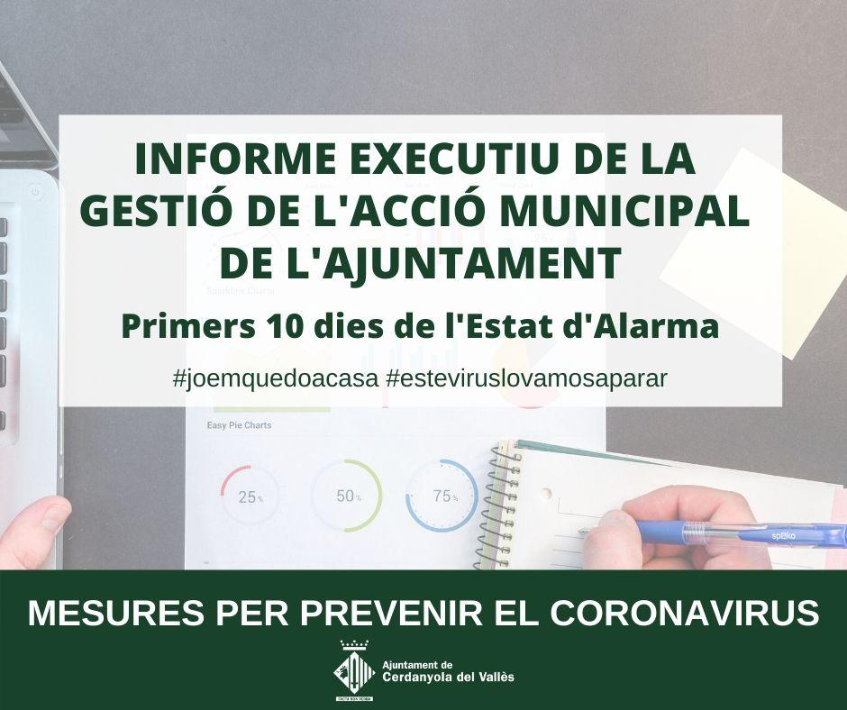 Informe executiu de la gestió de l'acció municipal de l'Ajuntament de Cerdanyola del Vallès