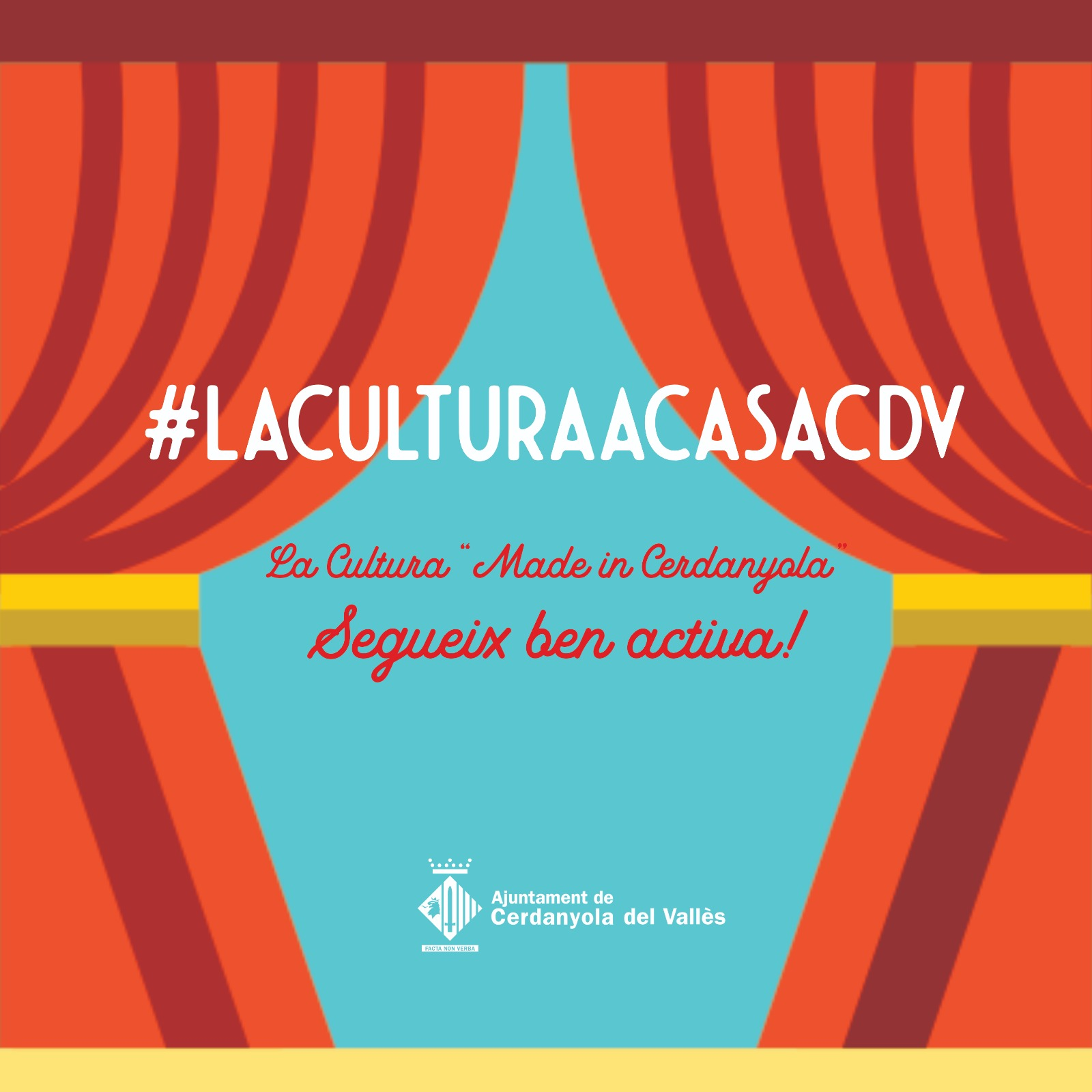 Imatge de la inictativa #laculturaacasacdv