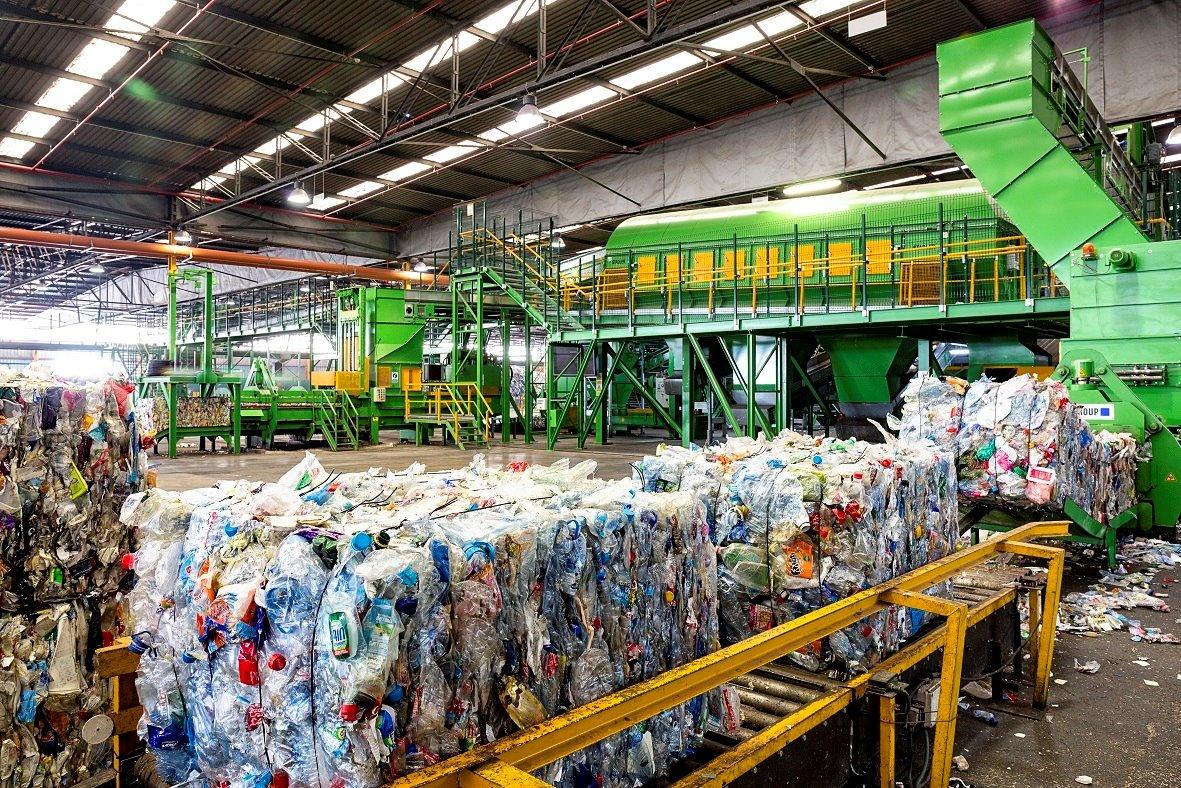 Imatge d'arxiu d'una planta de reciclatge