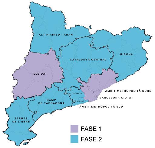 Mapa de les regions sanitàries de Catalunya