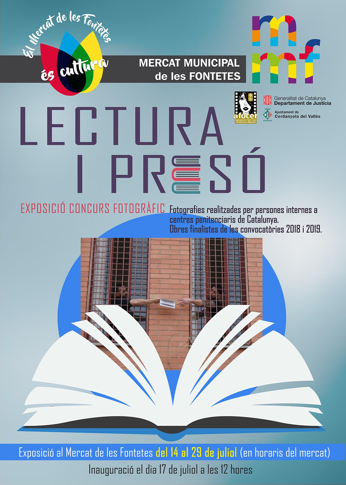 Cartell exposició fotogràfica 'Lectura i Presó'