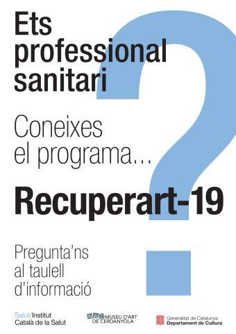 Cartell de la campanya Recuperart-19