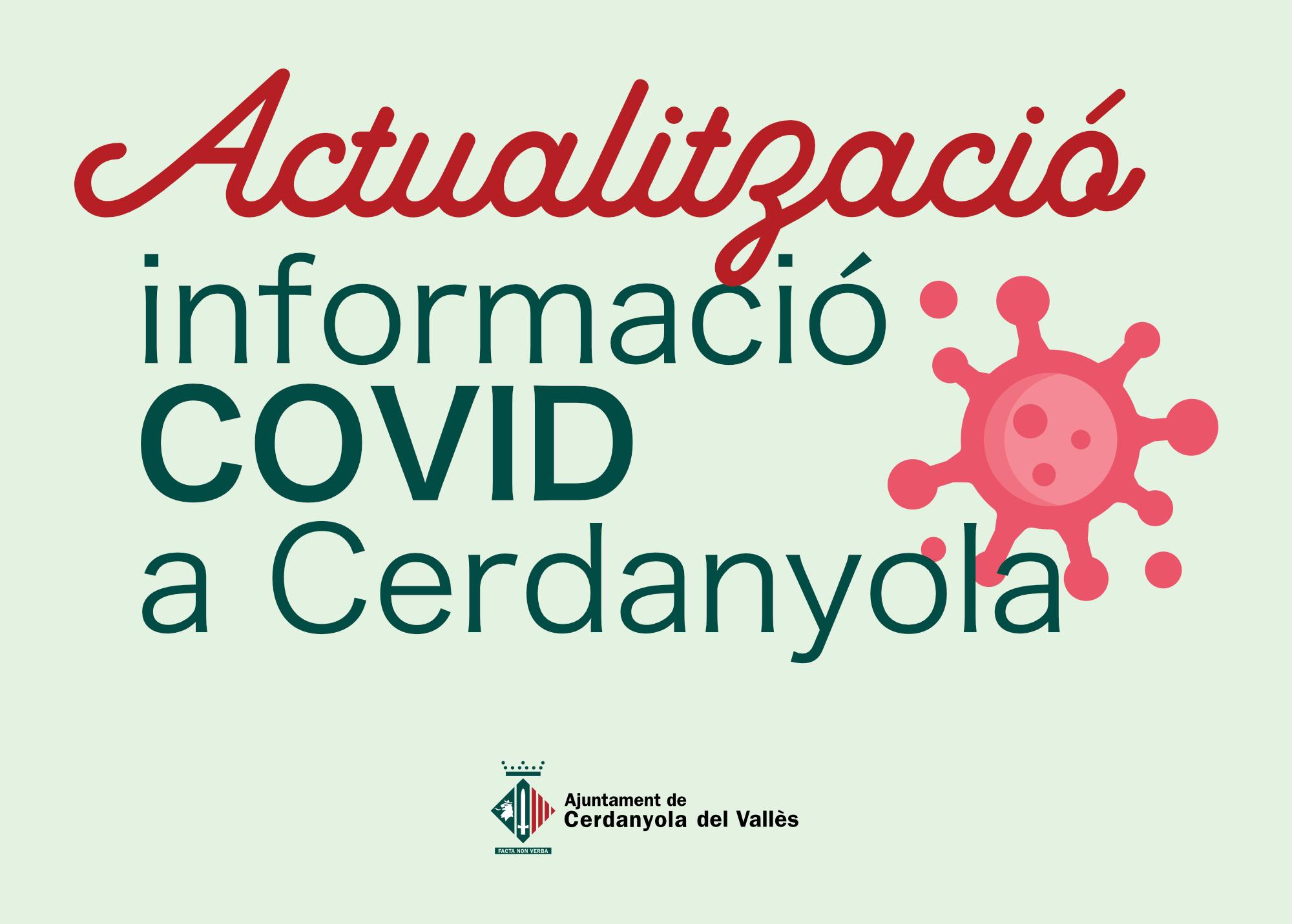 Imatge Actualització informació COVID Cerdanyola