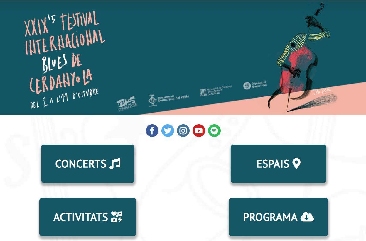 Captura de pantalla de la web del festival