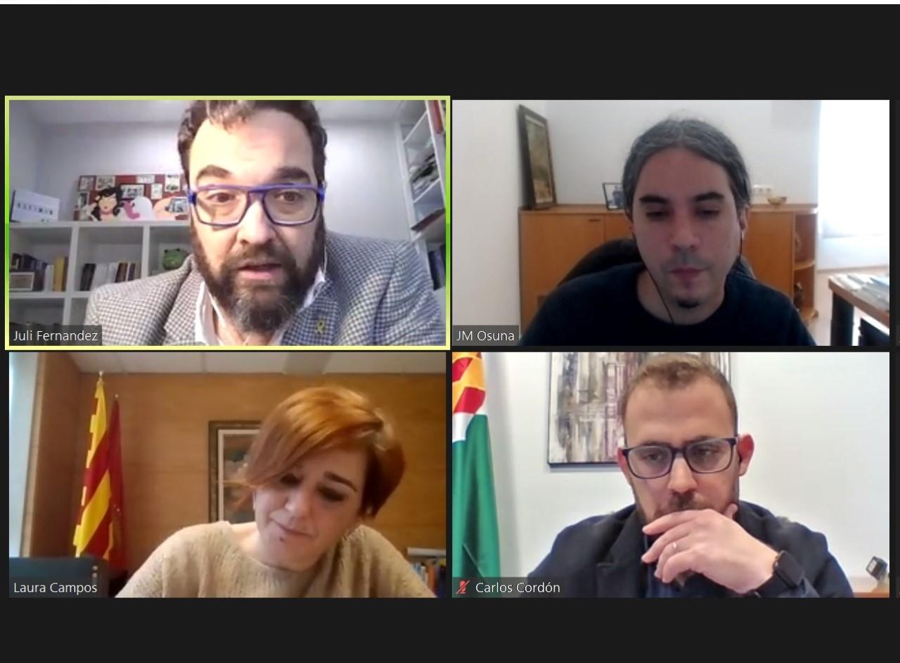 foto de la reunió virtual
