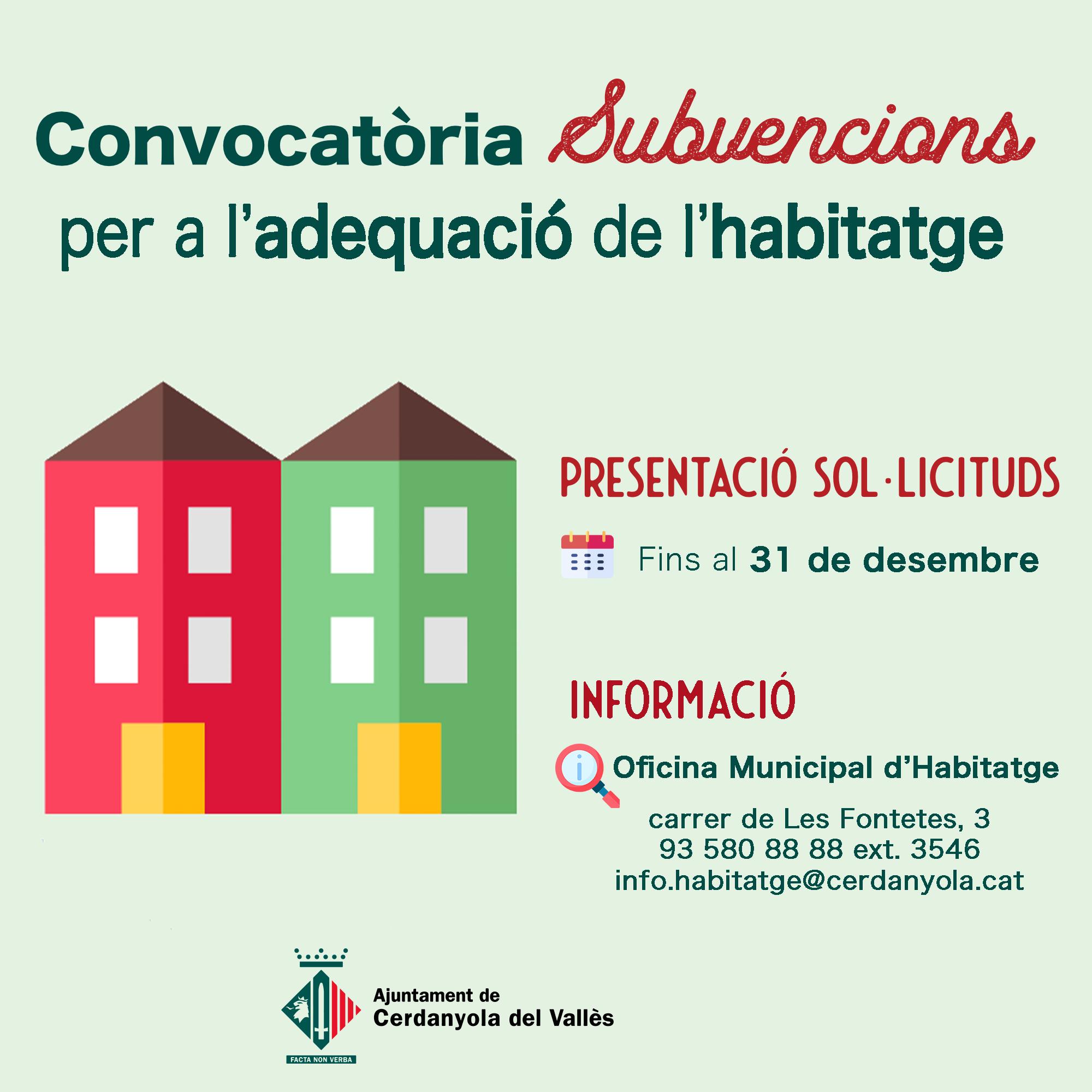 imatge del programa de rehabilitació habitatges