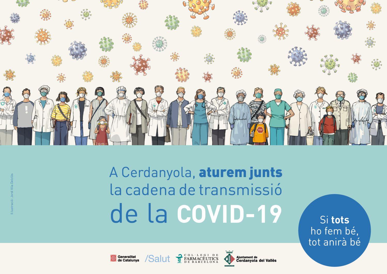 Imatge campanya aturem junts la cadena de transmissió de la COVID-19