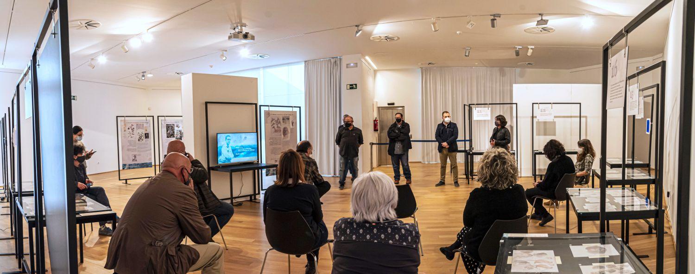 Moment de la inauguració de l'exposició (Foto de: Tito Vera)
