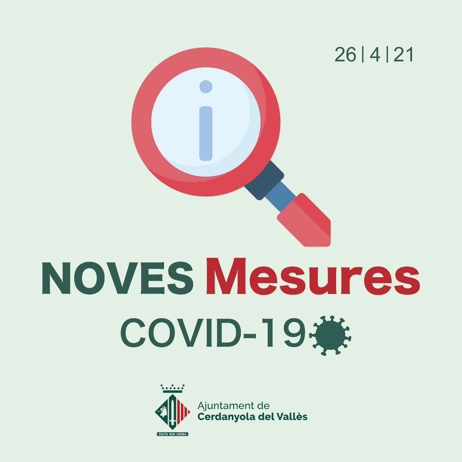 Imatge mesures COVID 26 d'abril